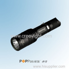 5 Brightness levels Rechargeable CREE XM-L U2 High Power Tactical LED Flashlight POPPAS-F17