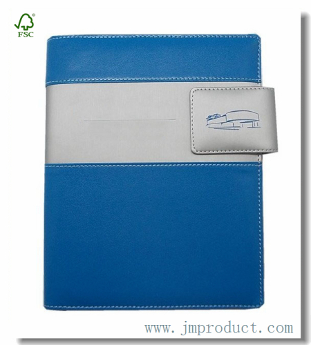 blue magnetic snap journal\diary notebook with folder