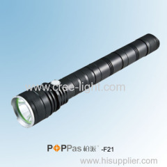 Rechargeable 800Lumens CREE XM-L T6 Professional Tactical LED Flashlight POPPAS-F21 Professional For Hunting