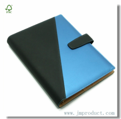 trendy simulate leather diary notebook wtih magnetic snap(college ruled)