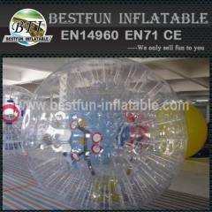 Inflatable bumper body zorbing fighting ball