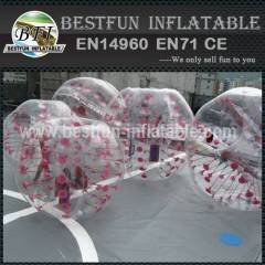 Comercial inflatable bump balls play by kids