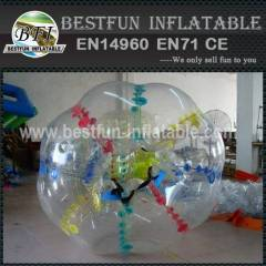 Wide vision bubble suit loopy bumper ball