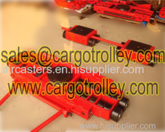 Transport trolley applied on moving and handling works