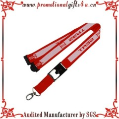 Woven Bottle Opener Lanyard with Metal Hook and Buckle for Promotional Gifts