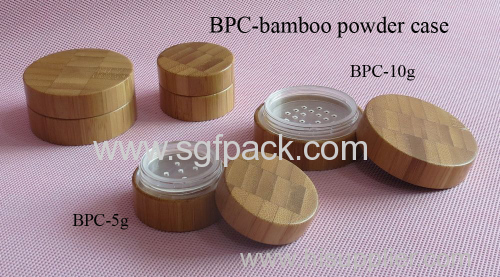 bamboo powder case with powder sifter powder jar 5g jar 10g jar 20g jar 30g jar make up package