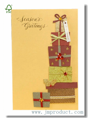 surprise boxed handmade Christmas card