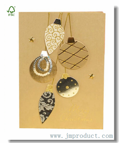 decal ball handmade Christmas cards