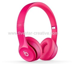 Pink Beats by Dr.Dre Solo 2 On-Ear Lightweight Headphones