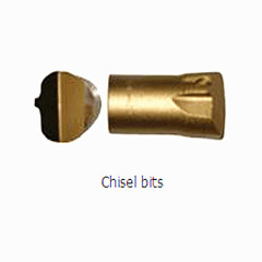 Tapered rock drilling tools Tapered chisel bit