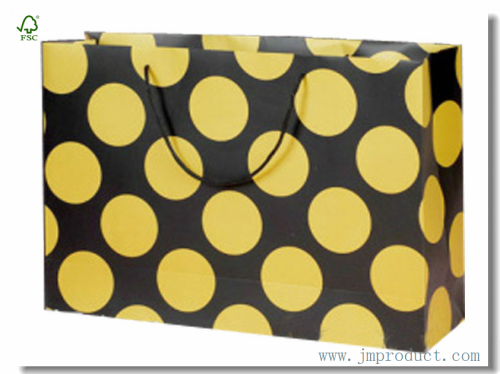 Big Yellow Polka In Super Large\Wide Paper Shopping Bag