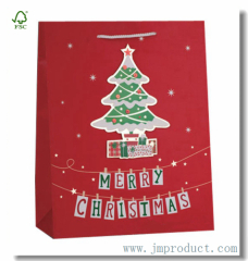 Large Red Christmas Gift Bag Themed Christmas Tree