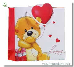 Teddy Bear Child Birthday Paper Gift Bag