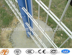 welded double rod fence