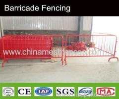 Connessione interlock tipo tubolare controllo cantò mobile barricata recinzione