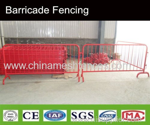 interlock crowed control barricade fence