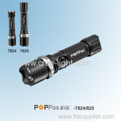 Rechargeable CREE XR-E Q5 ZOOM Police LED Flashlight POPPAS-T824 T825