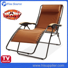 Folding Lounge Extra Wide Zero-Gravity Lounger Beach Chair
