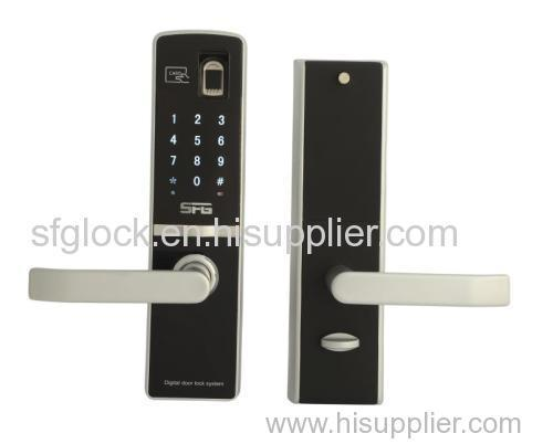 Stylish Biometric Fingerprint and RFID card Door Lock with