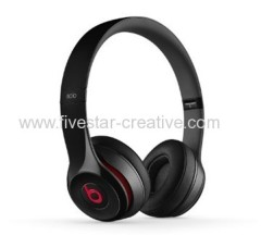 New Beats by Dr.Dre Solo 2 Black Lightweight On-Ear Headphones
