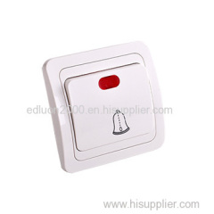 flush door bell wall switch with indicator