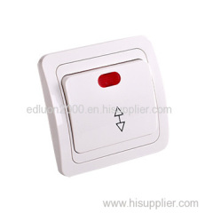 flush 1 gang 2 way wall switch with light