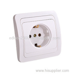 flush 1 gang wall socket with earthing