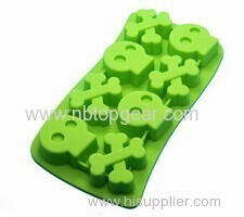 Skeleton bone silicone ice cube tray