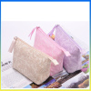 Latest party clutch bag printing flower canvas travel accessory korean cosmetic