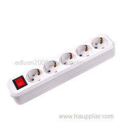 5 gang extension socket with earthing and switch
