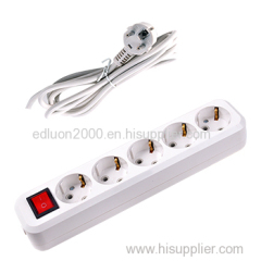 5 gang extension socket with wire and switch