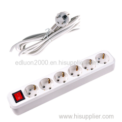 european 6 gang extension socket with wire