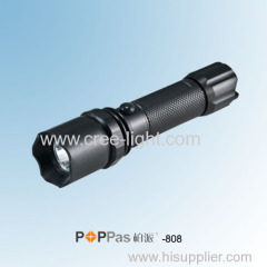 IPX7 Professional 3w CREE XR-E Q5 High Power Rechargeable LED Police Flashlight POPPAS- 808