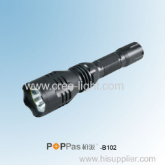 Waterproof IPX7 CREE XM-L T6 400Lumens Brightest Aluminum Tactical LED Flashlight POPPAS-B102