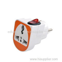 1 gang travel adaptor with switch