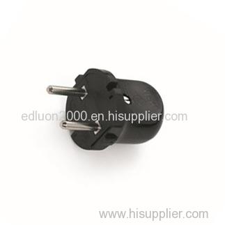european small black power plug