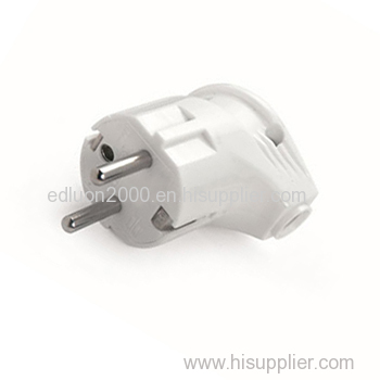 schuko elbow power plug