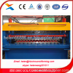 Africa hot sale type double layer roll forming machine