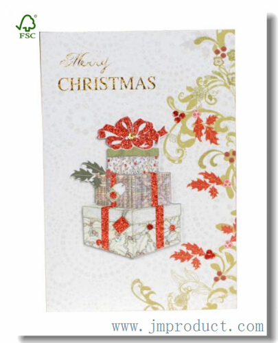Surprise Box Merry Christmas Card