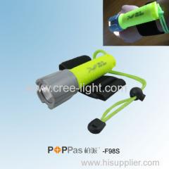 120lumens CREE XP-E R2 High Power Blue or Yellow Diving LED Flashlight POPPAS-F98S
