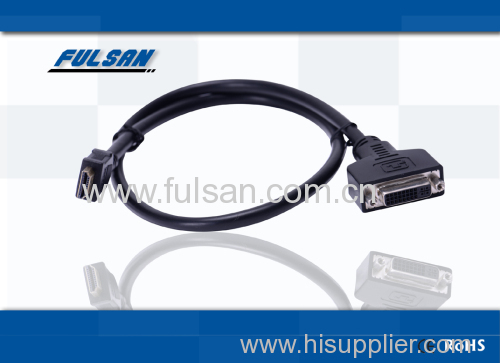 HDMI to DVI cable 6ft gold plated