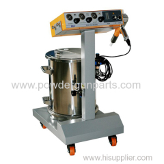 manual powder spray gun system