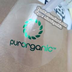 custom transparent adhesive labels