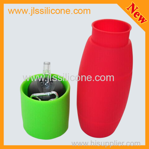 camping kit silicone water drinking bottle