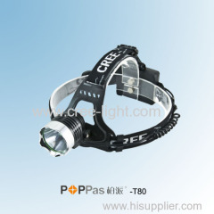 10W CREE XM-L T6 High Power Aluminum LED Headlamp POPPAS- T80