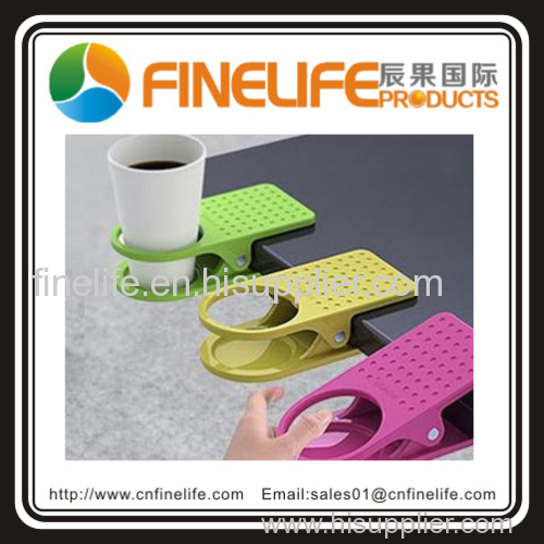 Colourful plastic cup holder clip