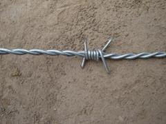 Heavy Galvanized Barbed Wire Fence