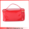 Red shining PVC makeup new design cosmetic zip lock bag