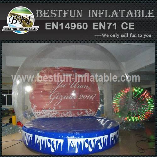 Xmas inflatable snow globe