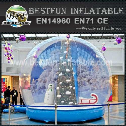 Inflatable Christmas rotating snow globe